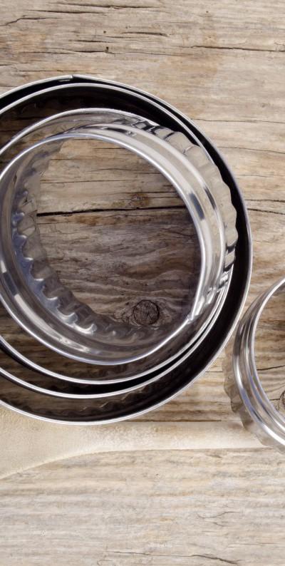 used baking utensils on wood
